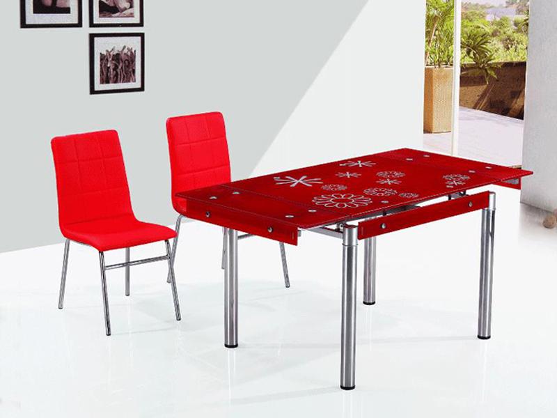 Купить кухонный стол красного цвета